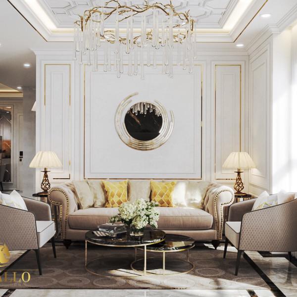 Mẫu thiết kế căn hộ tân cổ điển sang trọng và tối ưu hóa diện tích.