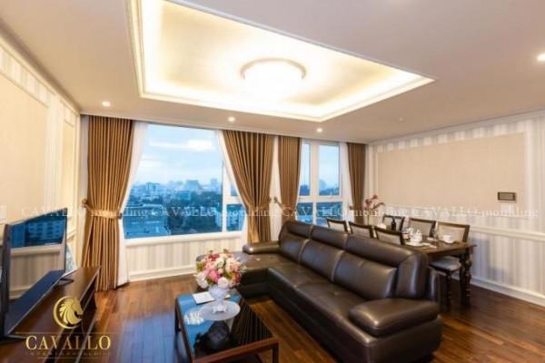 Phào chỉ nhựa Hàn Quốc trang trí căn hộ Leman Luxury Trương Định
