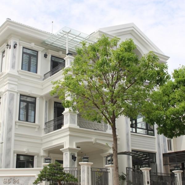 Phào chỉ nhựa Hàn Quốc trang trí biệt thự Phú Mỹ Hưng Villa