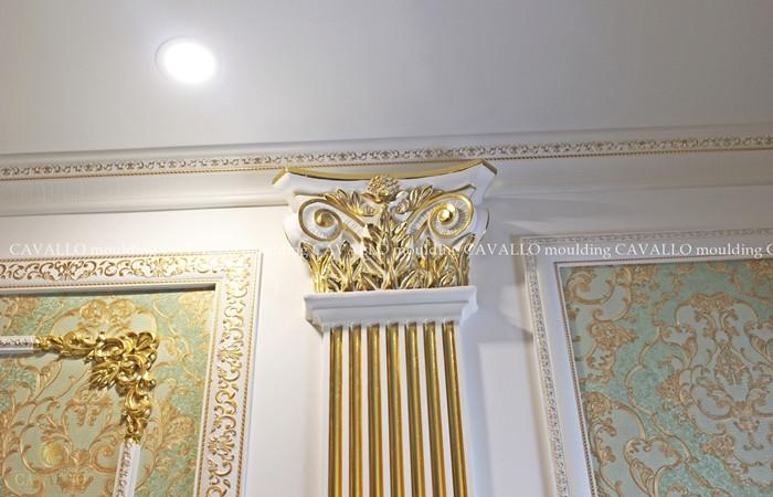 Phào chỉ trang trí dát vàng SEPIA HOTEL Đà Lạt