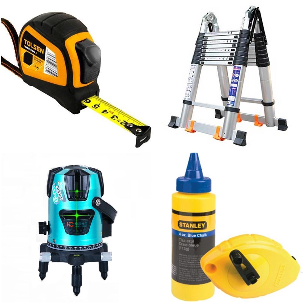 Các dụng cụ cần được kiểm tra chất lượng trước khi thi công.